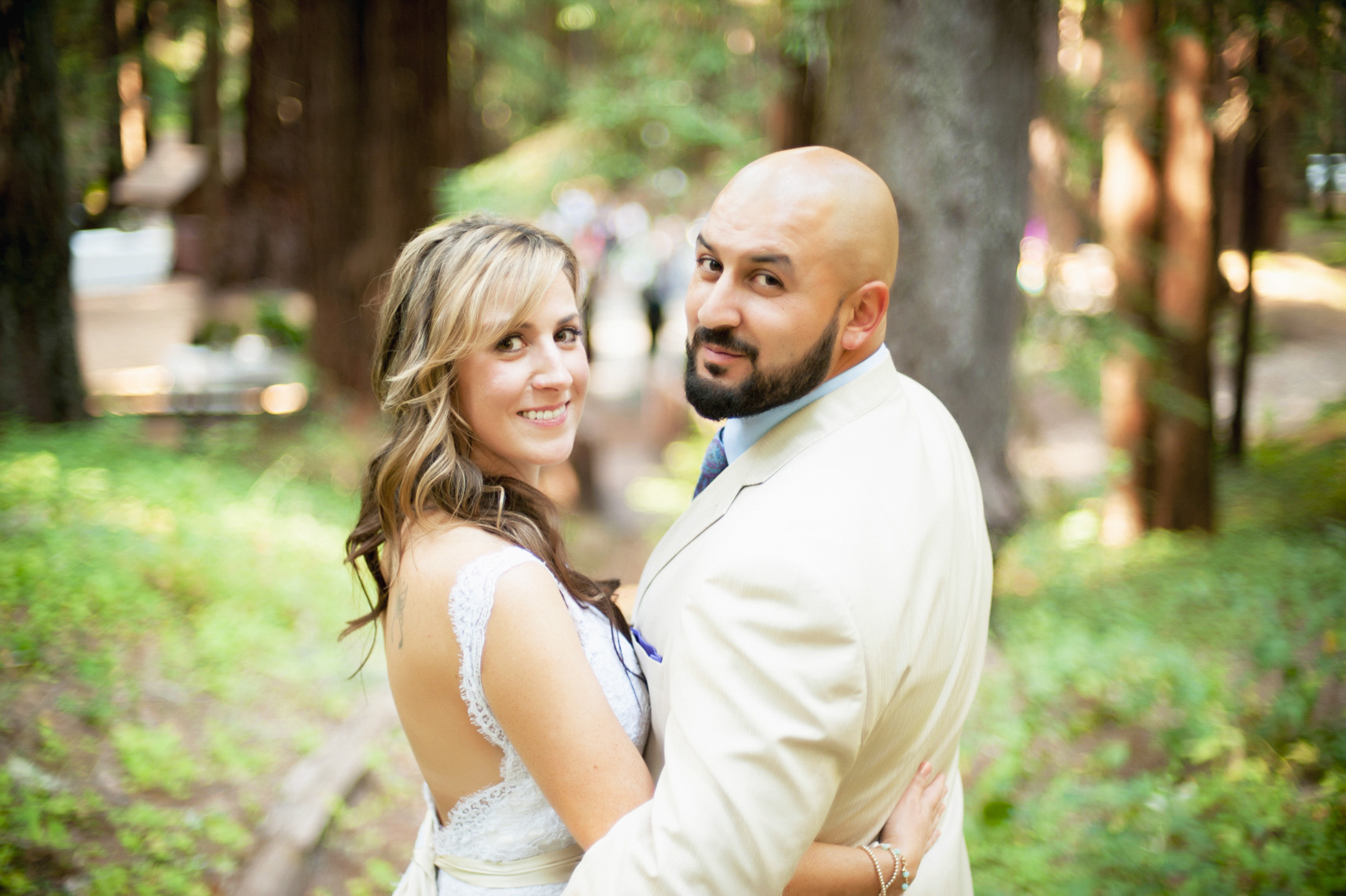 wedding portrait redwoods