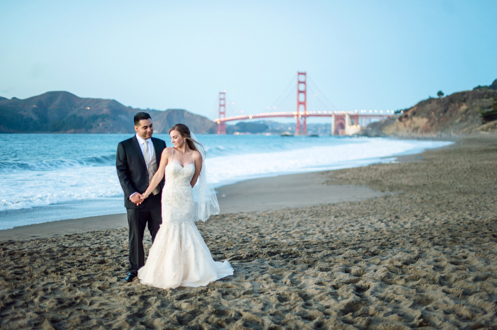 baker beach wedding golden gate bridge