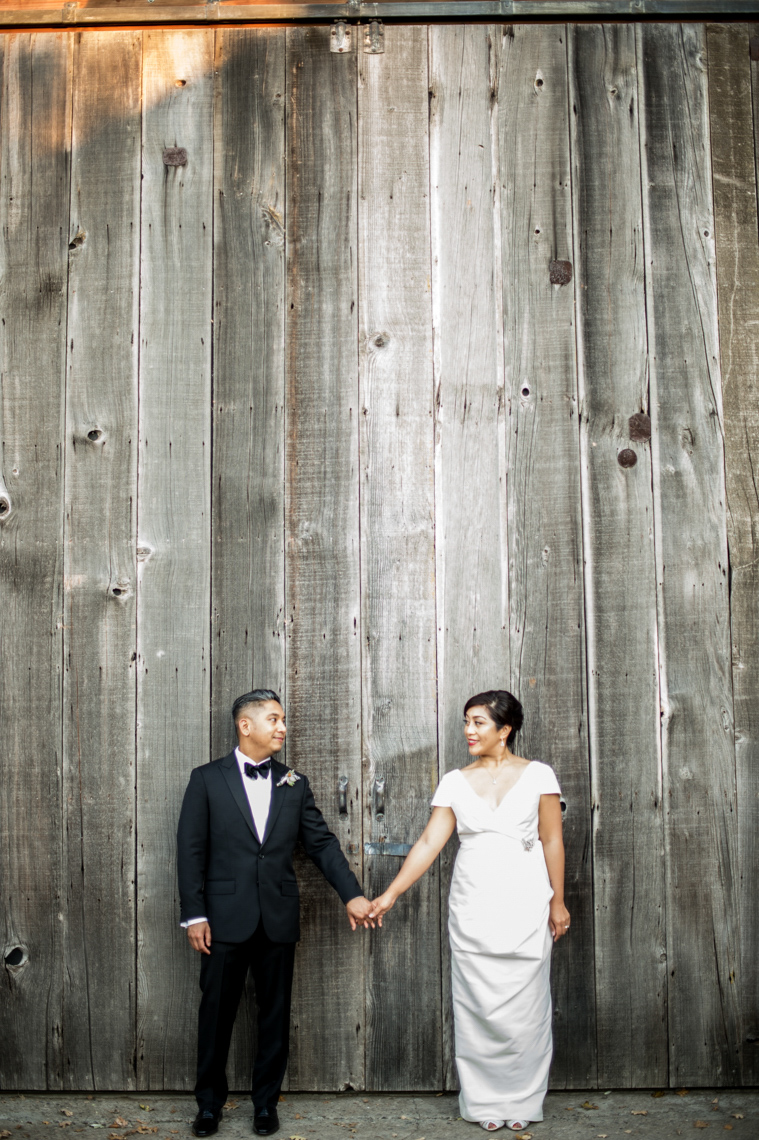 napa wedding portrait rustic
